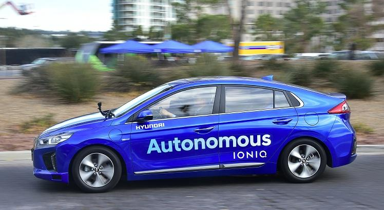Hyundai's Autonomous IONIQ. AFP PHOTO / Frederic J. BROWN