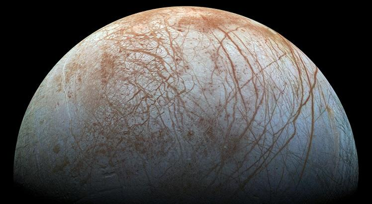 "(FILES) This NASA file photo from November 22, 2014 shows a global color view of the surface of Jupiter's icy moon Europa in this color view, made from images taken by NASA's Galileo spacecraft in the late 1990s. NASA on September 26, 2016 at a news conference at 2 pm (1800 GMT) Monday featuring Paul Hertz, NASA's director of astrophysics, and William Sparks, an astronomer with the Space Telescope Science Institute in Baltimore, is expected to announce results from a unique Europa observing campaign that resulted in surprising evidence of activity that may be related to the presence of a subsurface ocean.    - RESTRICTED TO EDITORIAL USE - MANDATORY CREDIT ""AFP PHOTO / NASA/JPL-CALTECH/SETI INSTITUTE"" - NO MARKETING - NO ADVERTISING CAMPAIGNS - DISTRIBUTED AS A SERVICE TO CLIENTS    / AFP / NASA/JPL-Caltech/SETI Institute / Handout / RESTRICTED TO EDITORIAL USE - MANDATORY CREDIT ""AFP PHOTO / NASA/JPL-CALTECH/SETI INSTITUTE"" - NO MARKETING - NO ADVERTISING CAMPAIGNS - DISTRIBUTED AS A SERVICE TO CLIENTS"
