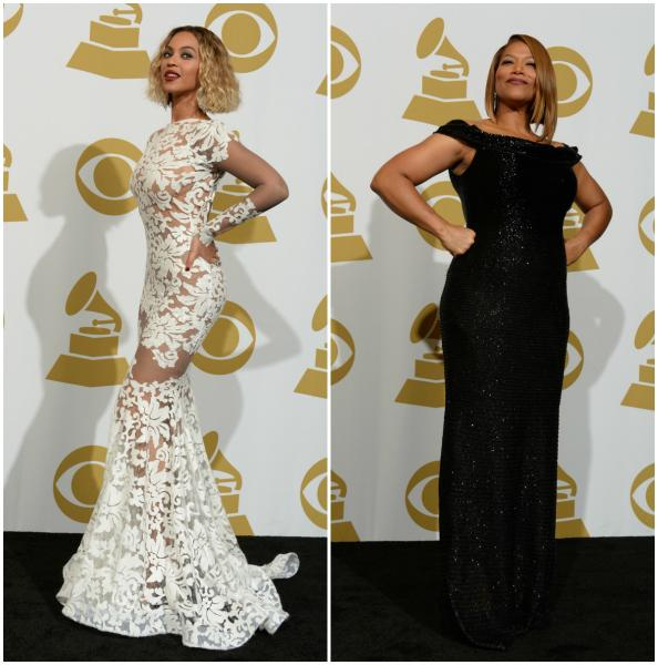 Beyoncé e Queen Latifah (Fotos: AFP)